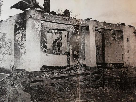 Jovićina kuća, spaljena do temelja