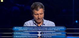 """""""Milionerzy"""" padło pytanie za ćwierć miliona! Czego prezydentem był Stefan Żeromski?"""