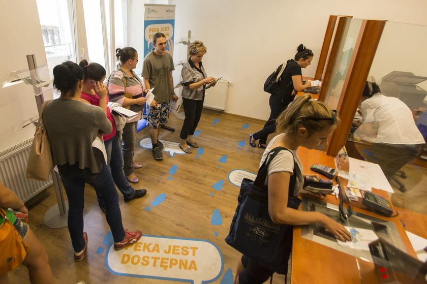 Klienci w punkcie ZTM w Poznaniu