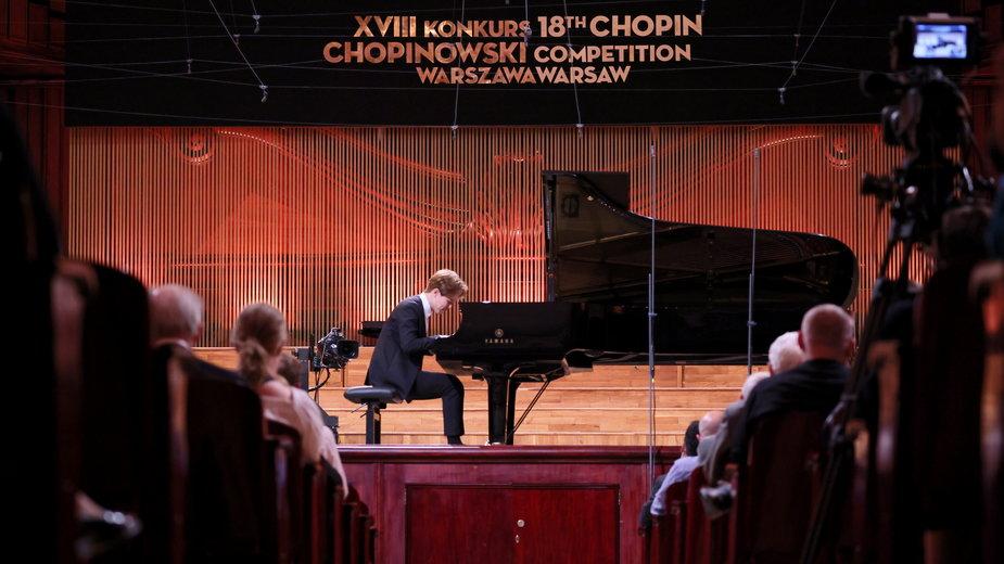 Chiński pianista Chao Wang podczas I etapu Konkursu Chopinowskiego (2021)
