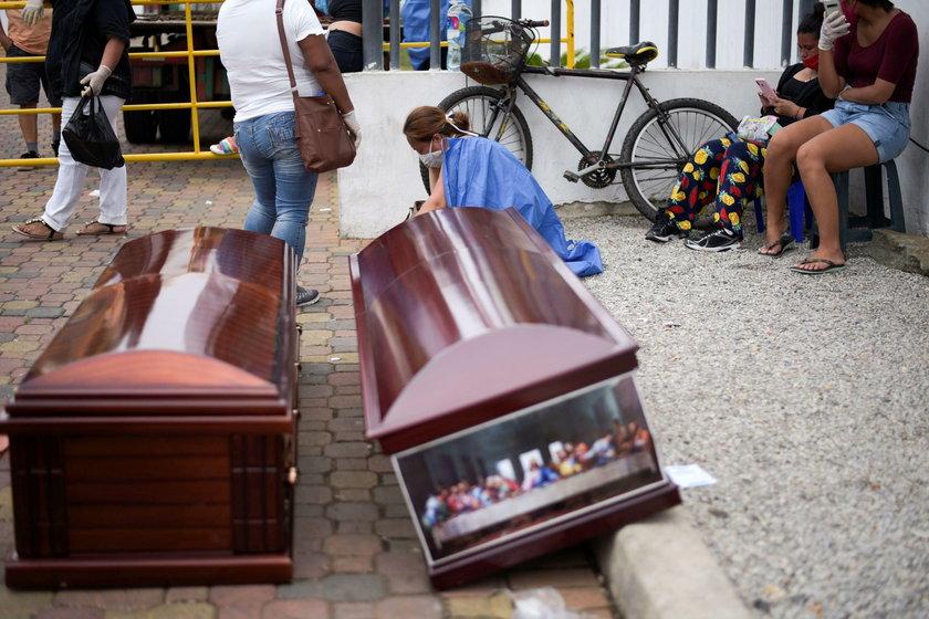 Dramatyczna sytuacja w Ekwadorze. Ciała leżą na ulicach i przed szpitalem