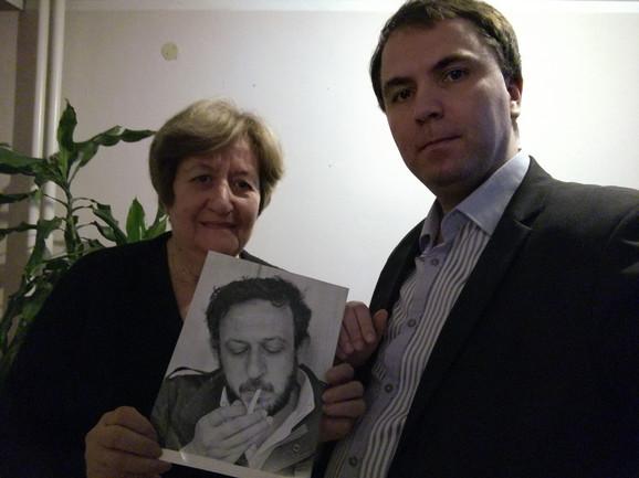 Mirjana Radivojević, sestra Petra Pajića i Viktor Lazić, direktor
