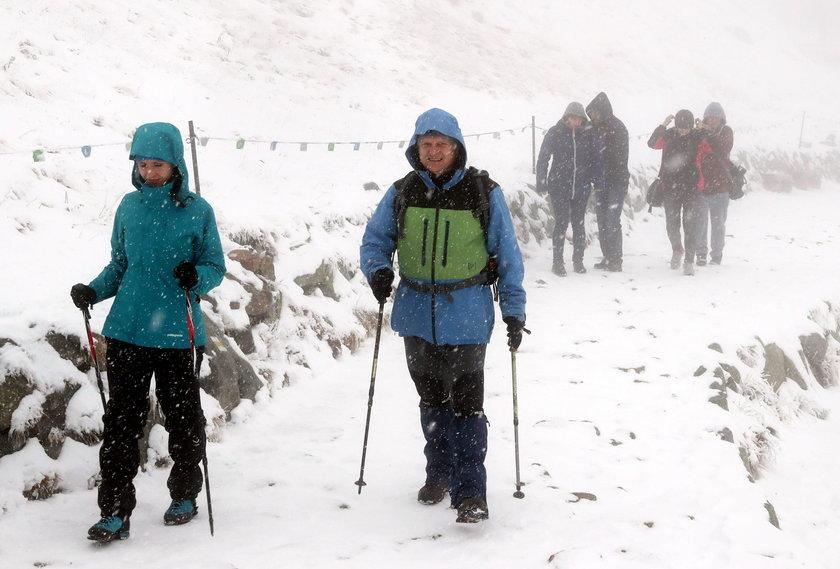 Atak zimy w Tatrach