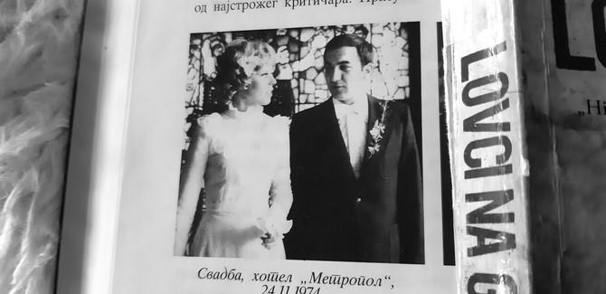Sa svadbe, 24 novembra 1974. u hotelu Metropol