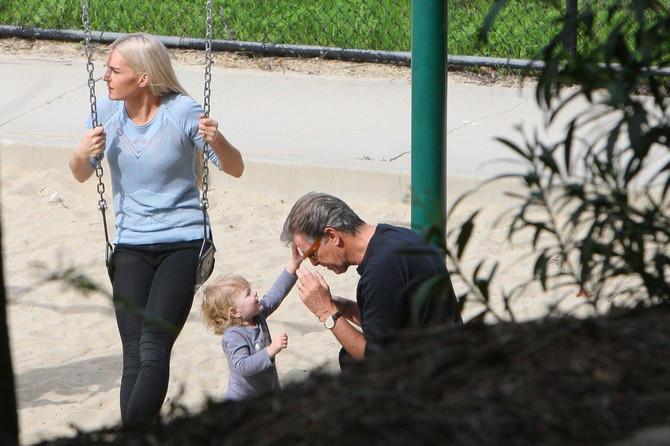 Sanja, naslednik i holivudska zvezda pre nekoliko meseci u parku na Beverli Hilsu