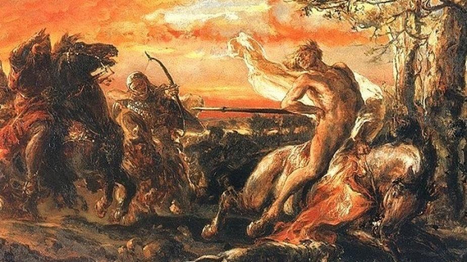 Zabicie Leszka Białego w Gąsawie (obraz Jana Matejki)