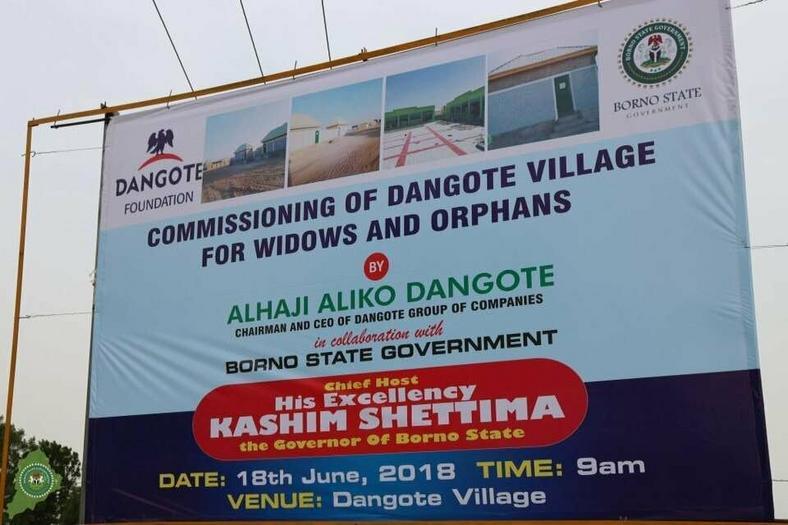 Commissioning of Aliko Dangote village billboard