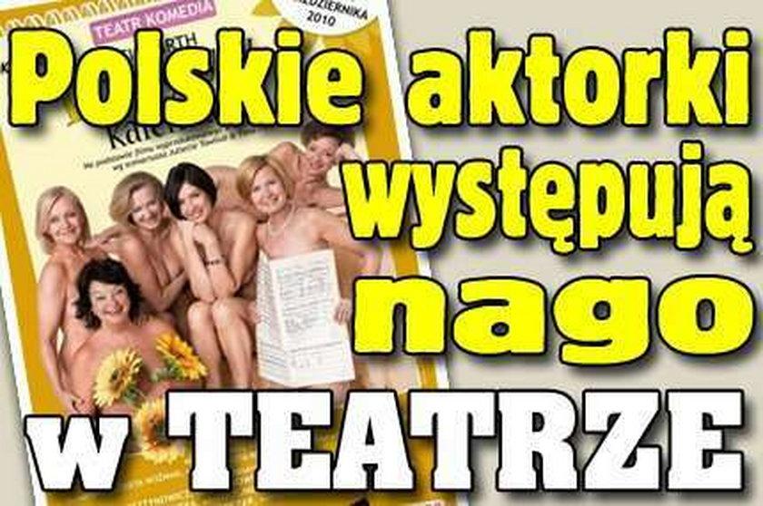 Polskie aktorki nago w teatrze! Zobacz!