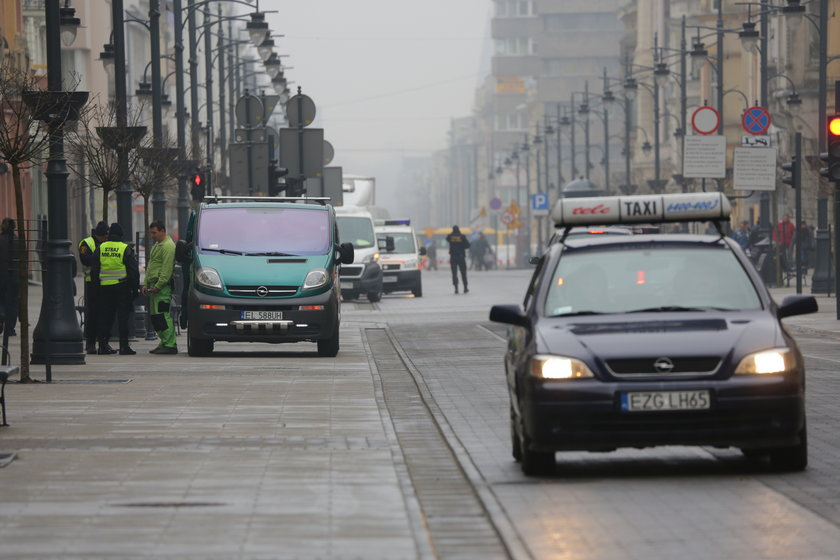Straż miejska na Piotrkowskiej w Łodzi