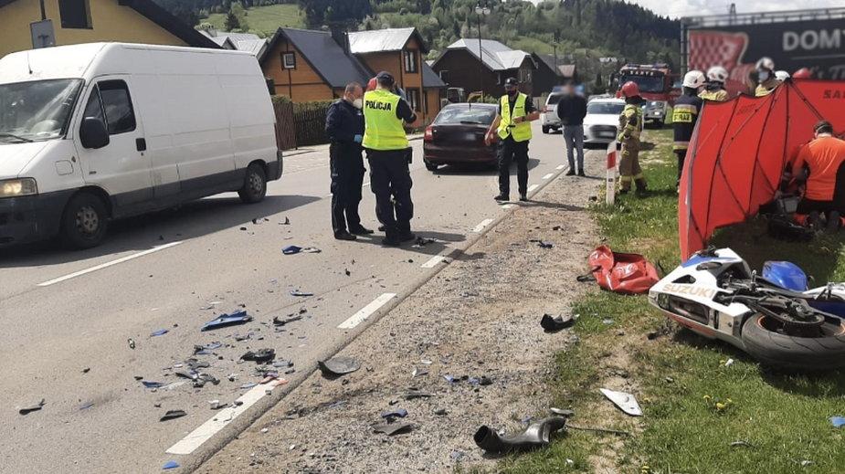 Śmiertelny wypadek motocyklisty w Powroźniku