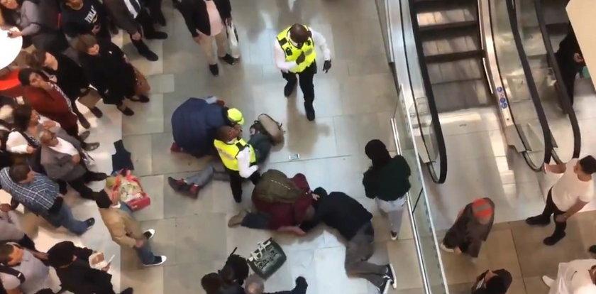 Groźny wypadek w galerii. Mężczyzna spadł na kobietę