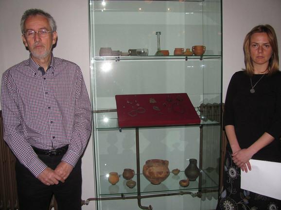 Arheolozi Vujadin Ivanišević i Sonja Stamenković