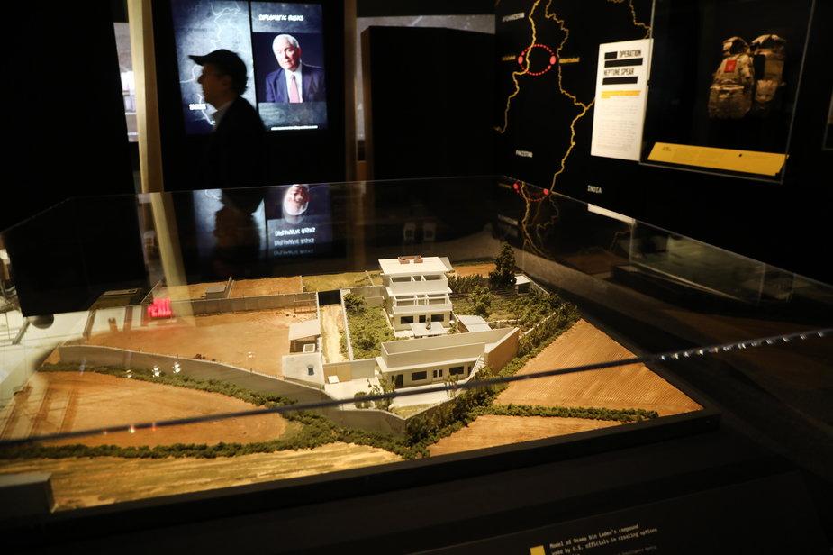 Model kryjówki Osamy bin Ladena w Abbottabadzie w Pakistanie pokazywany w Muzeum 11 Września w Nowym Jorku
