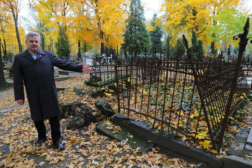 Kwesta na Starym Cmentarzu w Łodzi m.in. na upamiętnienie grobu Hermana Wernera