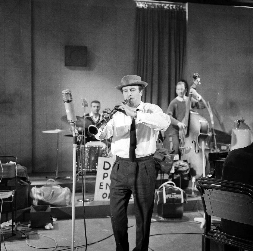 Acker Bilk w grudniu 1961 roku na scenie