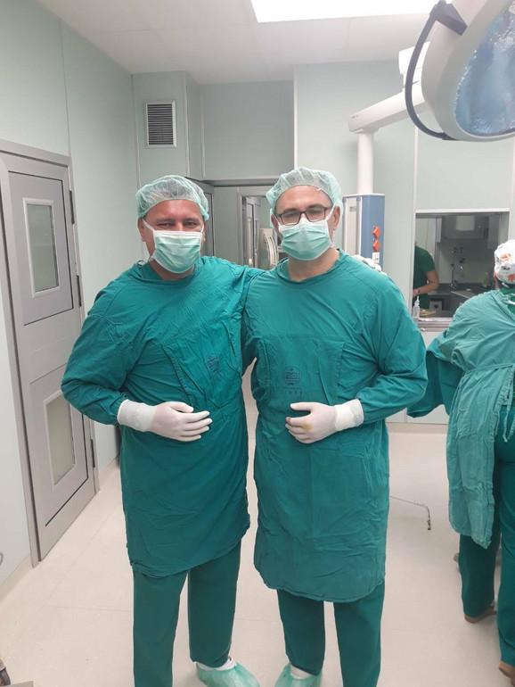 Dr Miljan Mihailović i dr Nebojša Marić