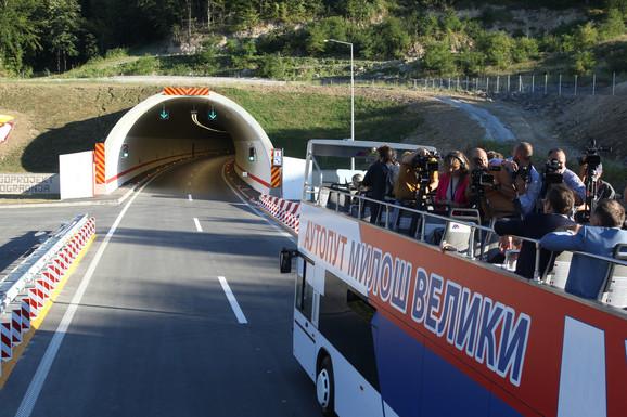 Autoput Miloš Veliki, otvaranje, Aleksandar Vučić