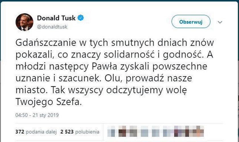 Tusk pisze o Gdańsku. Padła ważna deklaracja