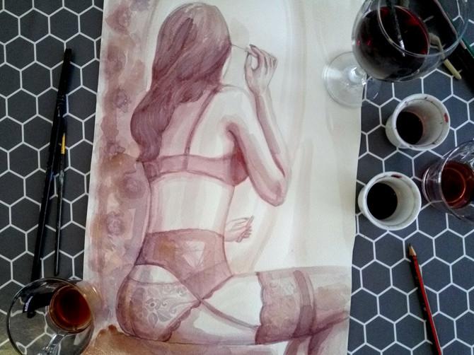 Mira slika najlepše slike žena, a umesto boja koristi božansko piće