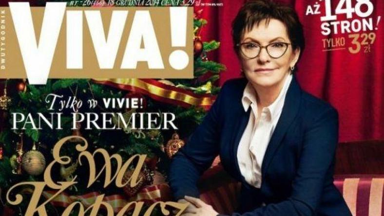 "Ewa Kopacz na okładce ""Viva!"""