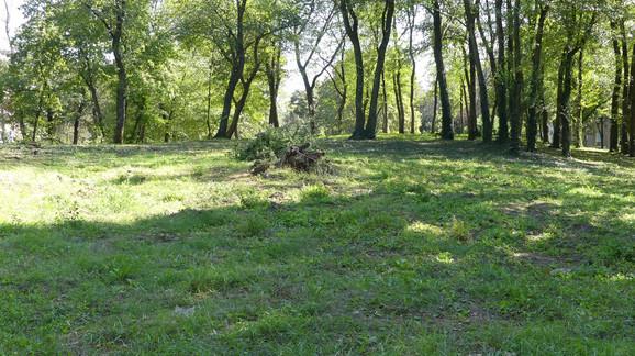 Park u Novom Kneževcu gde je pronađeno telo