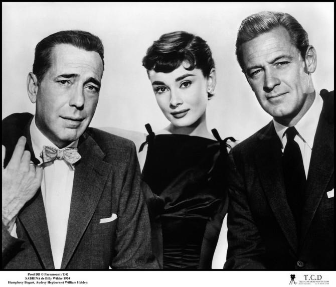 """U filmu """"Sabrina"""" (1954) sa Hemfrijem Bogartom i Vilijamom Holdenom"""