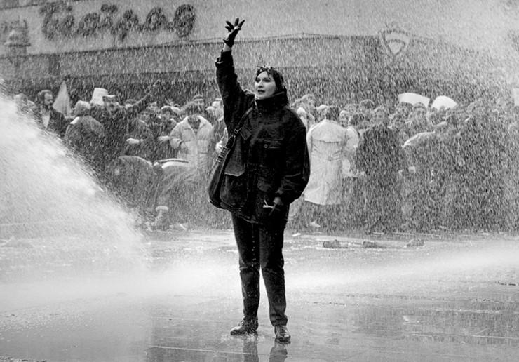 1991, protesti, demnostracije 9. mart, deveti mart, Dragana foto milos cvetkovic