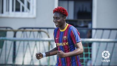 Super Falcons star Asisat Oshoala scores in Barcelona women's big league win