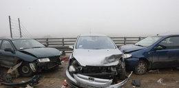 Sześć osób w szpitalu. 13 aut rozbitych! ZDJĘCIA