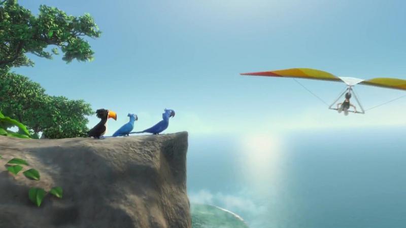 """""""Rio"""" - kadr z animacji Carlosa Saldanhy"""