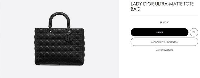 Lady Dior ultra matte torba