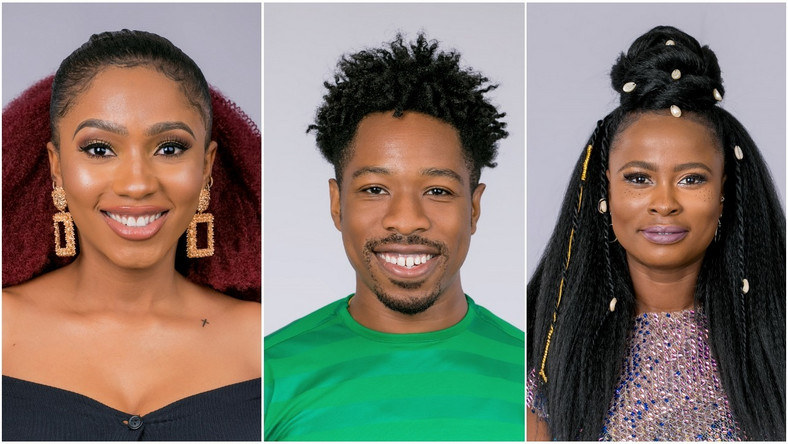 Mercy, Ike and Ella currently in a love triangle [Multichoice Nigeria]