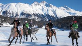 Turniej polo na zamarzniętym jeziorze w Sankt Moritz