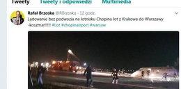 Chwile grozy na Okęciu. Polski milioner w rozbitym samolocie