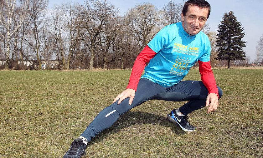 August Jakubik (57 l.) maratończyk z Rudy Śląskiej