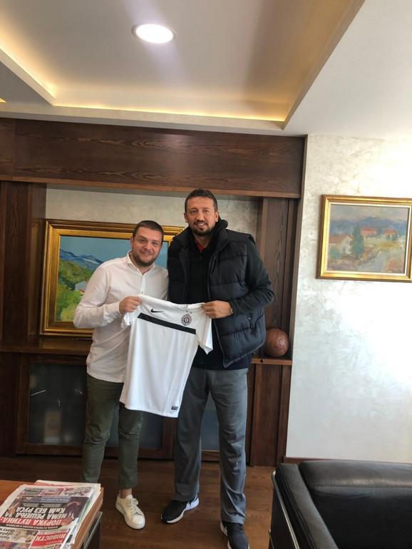 Hidajet Turkoglu u poseti Partizanu