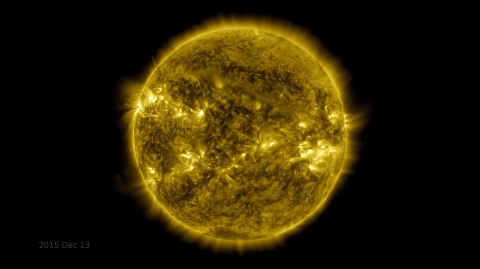 A Nap változásáról készített videót a NASA