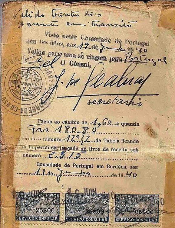 Spasonosna viza za Portugal s konzulovim potpisom