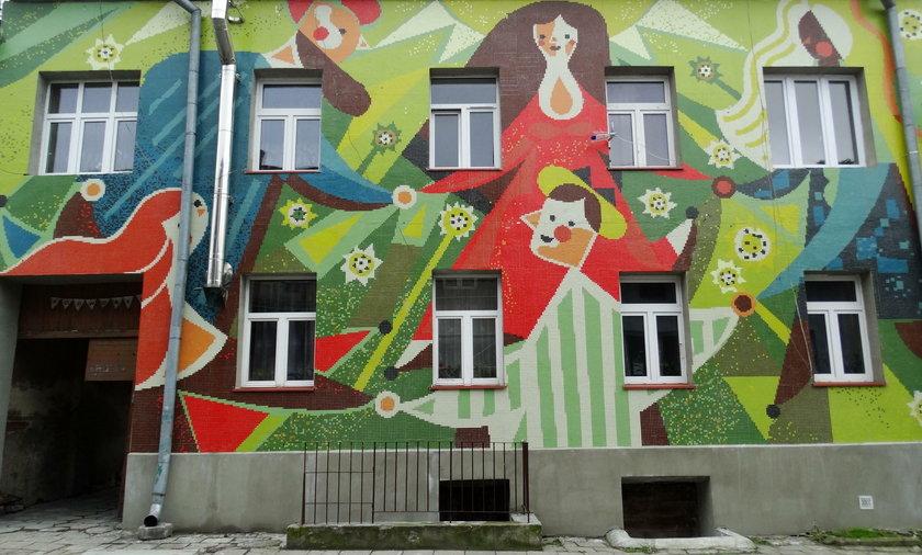 Mozaika przy ul. Biłgorajskiej