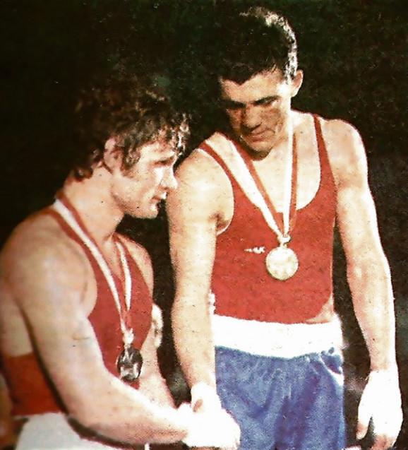 Miodrag Perunović kao šampion Evrope 1970. godine kada je pobedio Ukrajinca Savčenka