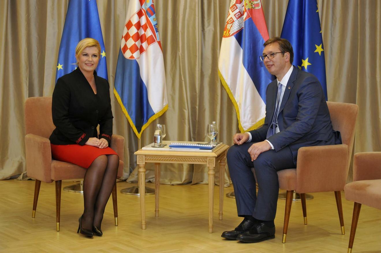 Kolinda sa predsednikom Republike Srbije Aleksandrom Vučićem prošle godine u Beogradu