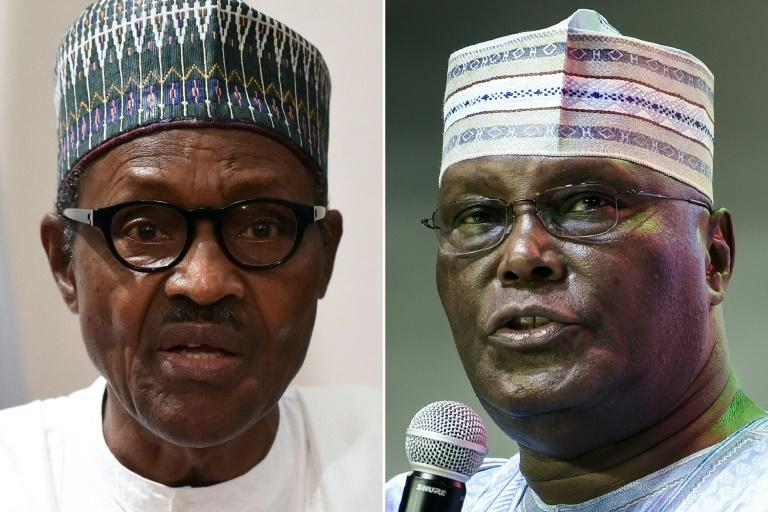 Buhari and Atiku squared up to each other on Feb 23, 2019 (Punch)