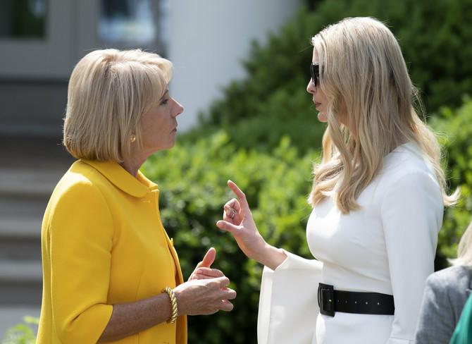 Ivanka Tramp i Betsi Devos, američka sekretarka za obrazovanje