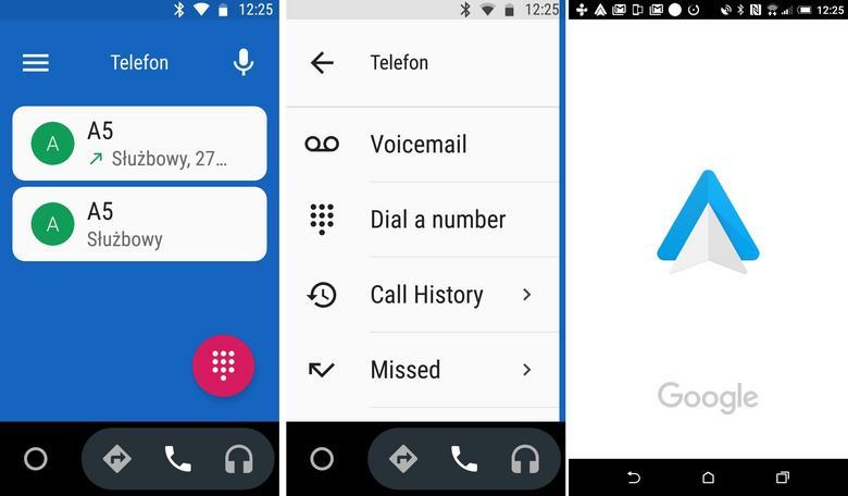 Android Auto - funkcja telefonu