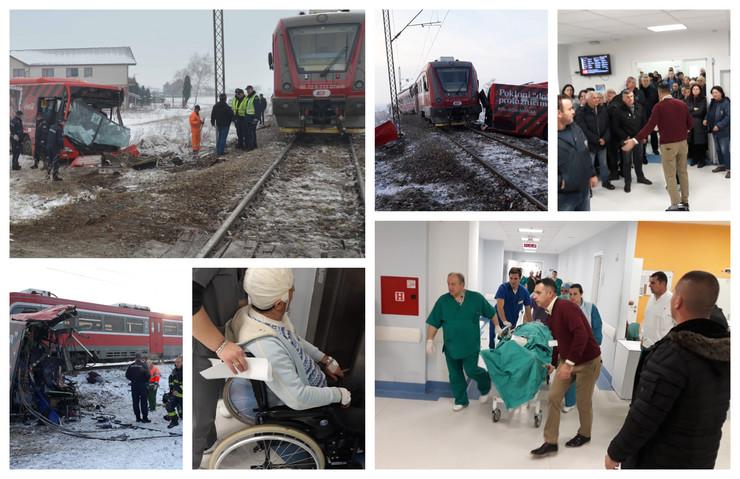 Pet osoba poginulo je u stravičnom sudaru voza i autobusa