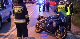 Pieszy zginął na przejściu. Potrącił go motocyklista