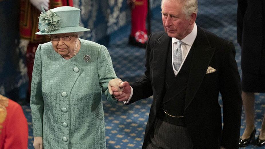 Królowa Elżbiera i książę Karol