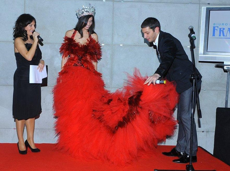 Miss Polski w sukni projektu Minge w Chinach
