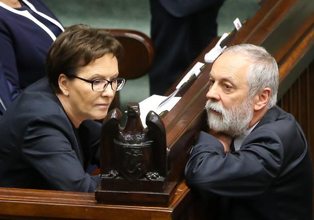 Ewa Kopacz i Rafał Grupiński podczas posiedzenia Sejmu