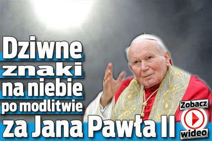 Dziwne znaki na niebie po modlitwie za papieża! WIDEO